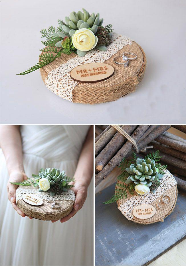 Ring Bearer, Wedding Ring Box, Engagement Ring Box, Moss Ring Box, Wedding Ring Holder