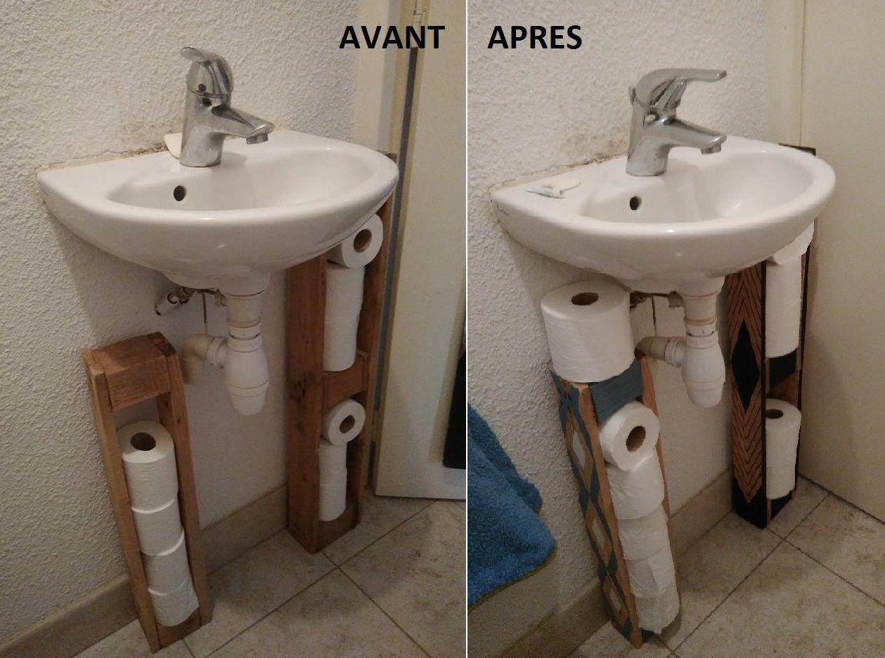 déco de toilette en palette, porte PQ en palette, DIY | DIY Perso ...