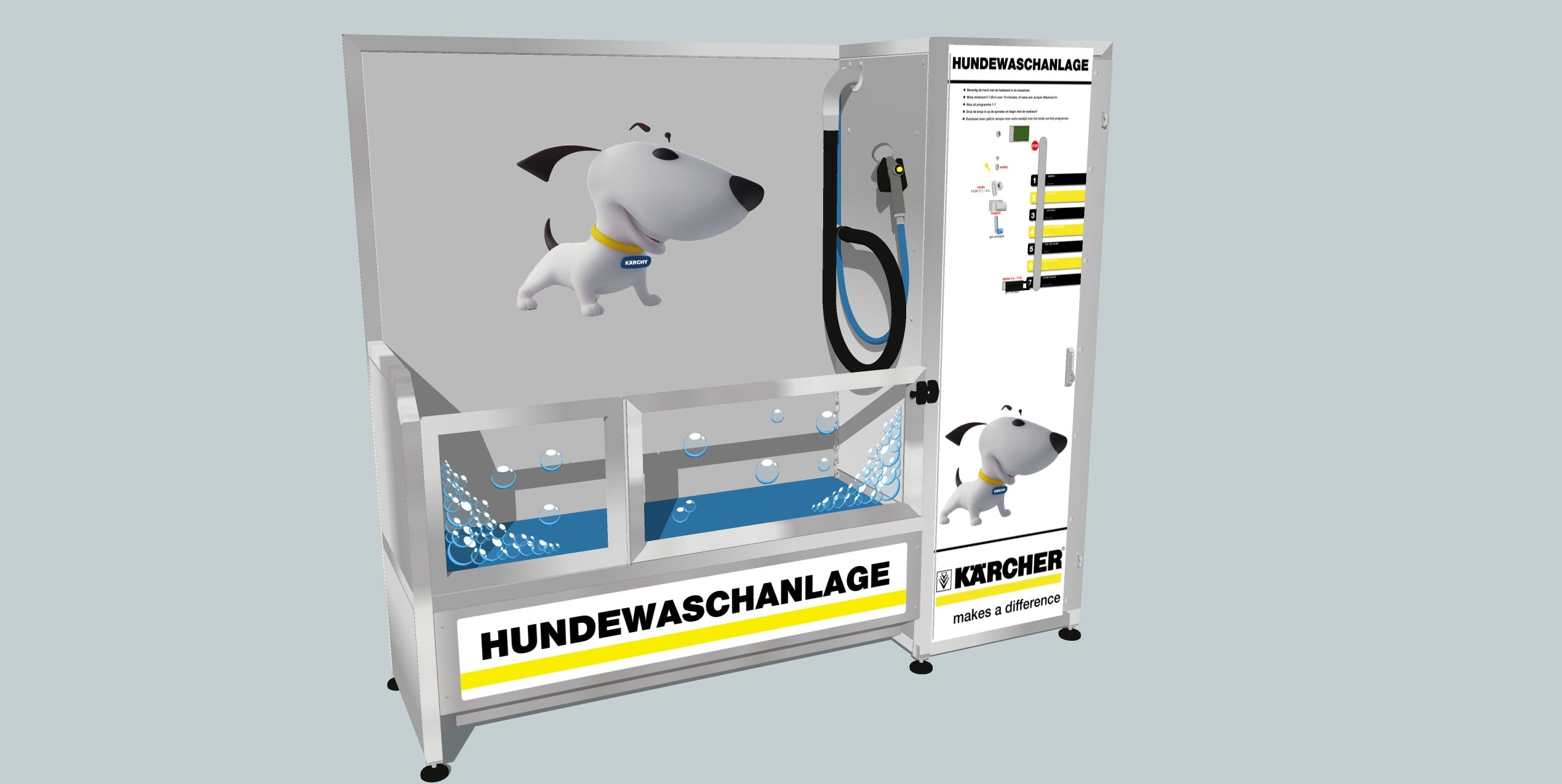 New Dog Wash design for Karcher Germany.