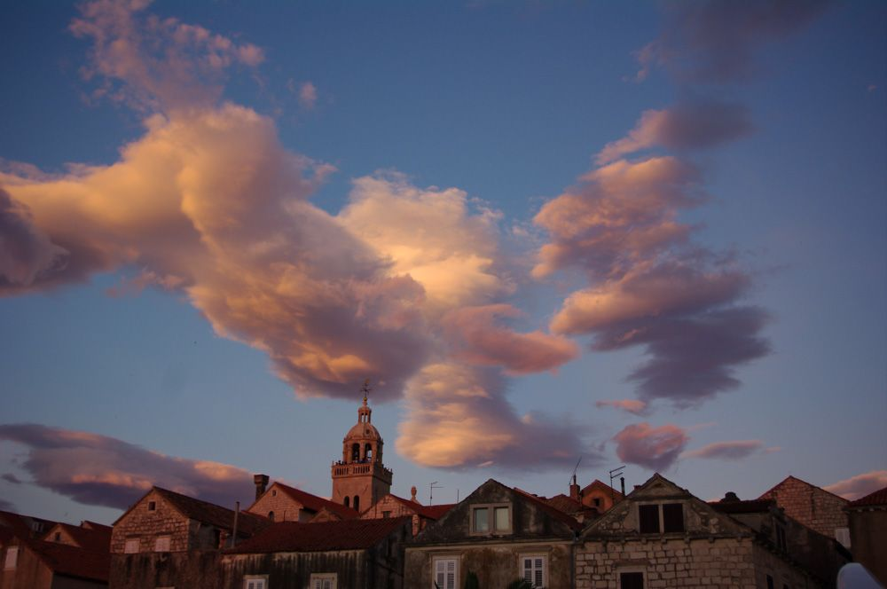 Lenticular clouds hovering over Korcula during a strong Bora a few weeks back.