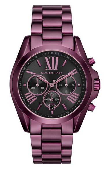 Free Shipping And Returns On Michael Kors Bradshaw Chronograph Bracelet Watch 43mm At Nordstrom Roman Numerals A Shadowy Sunray