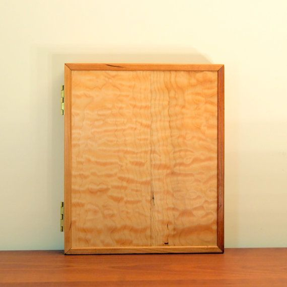 SPALTED MAPLE PANEL Wall Hanging Wood Jewelry Organizer Wall Hung