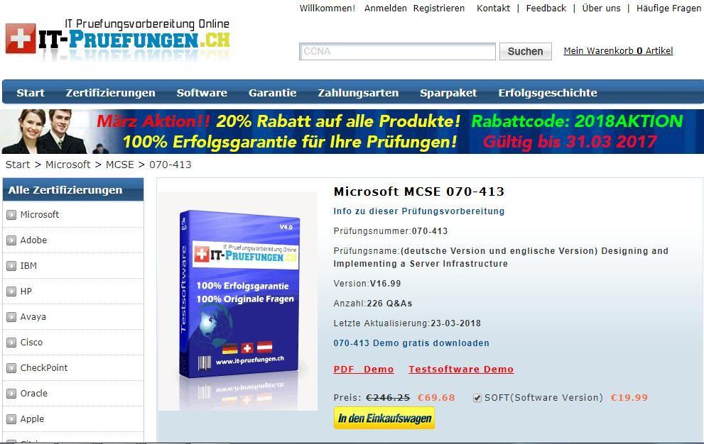 Die Prüfungsfragen zu Microsoft MCSE 070-413 it-pruefungen.de ...