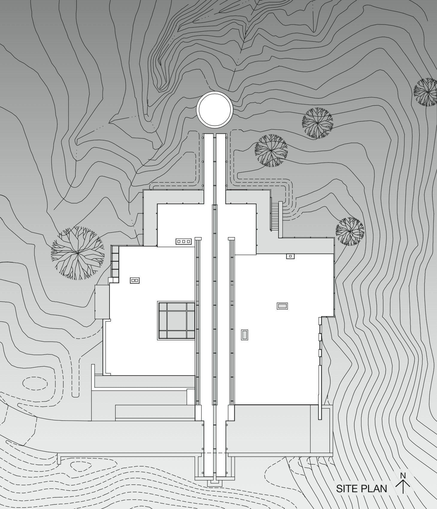 Gallery of casa valle escondido bucchieri architects site plans home also house rh pinterest