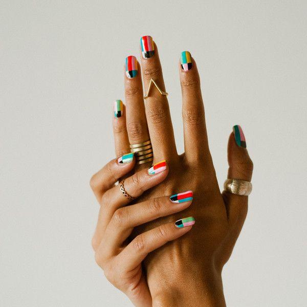 Oh, love! #nailart #geometric #colourful