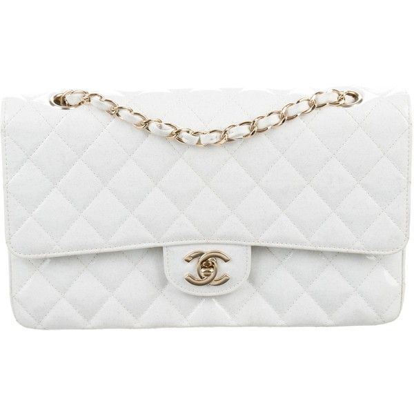 019bc47e0ad6 Pre-owned Chanel Classic Glitter Medium Double Flap Bag ($3,200) ❤ liked on