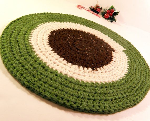 Beautiful Thick Pet Bed Rag Rug Round Cat Bed Cat Mat By CottageCoveCrochet, $21.00