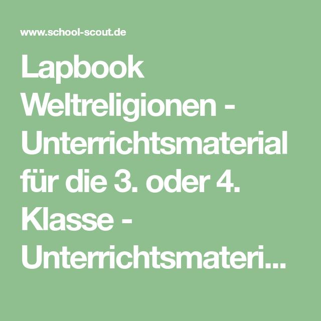 Lapbook Weltreligionen - Unterrichtsmaterial für die 3. oder 4 ...