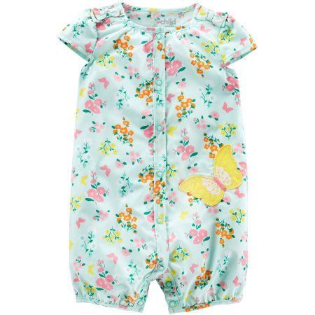 ac6016e64 Free 2-day shipping on qualified orders over $35. Buy Child of Mine by Carter's  Newborn Baby Girl One Piece Button Up Romper at Walmart.com