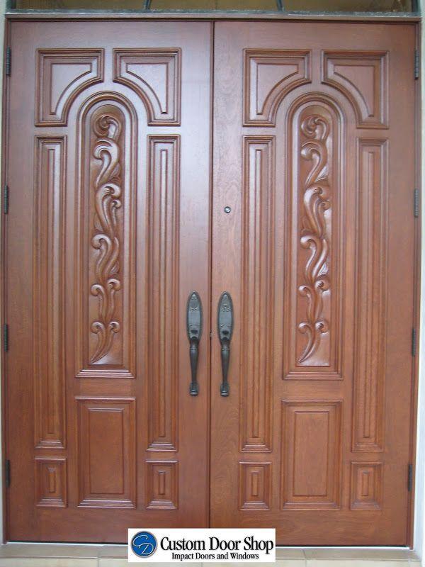 Solid Wood Double Door In 2019 Wood Exterior Door Double