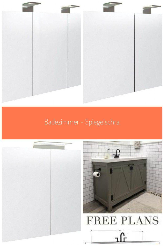 Badezimmer Spiegelschrank Solapur 21 Farbe Esche Grau 70 X