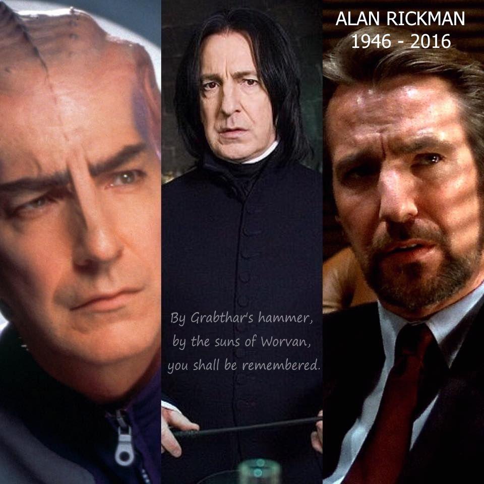 Rip Alan Rickman Harry Potter Galaxy Quest Hans Gruber From Die