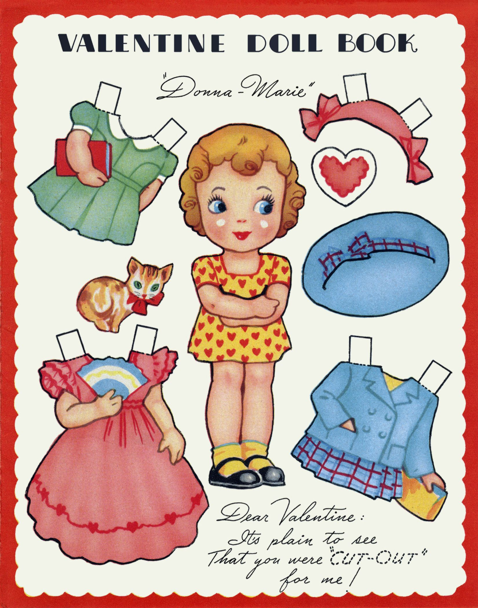 Reminds Me Of The Greeting Cards With Paper Dolls That Great Grandma Used To Send Me Paper