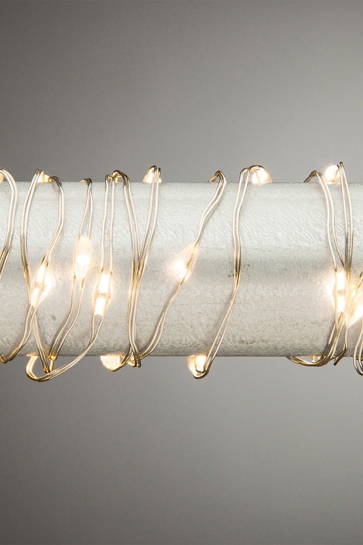 10ft. Silver Wire Outdoor Micro LED Warm White Light Strings by ...