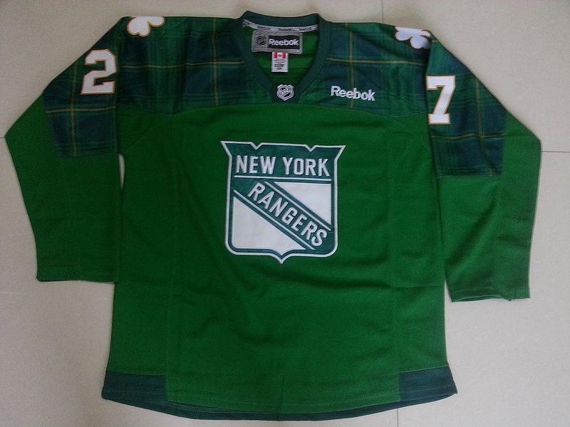 New York Rangers  27 Ryan McDonagh Green 2016 St. Patrick s Day ... bb8bb0781