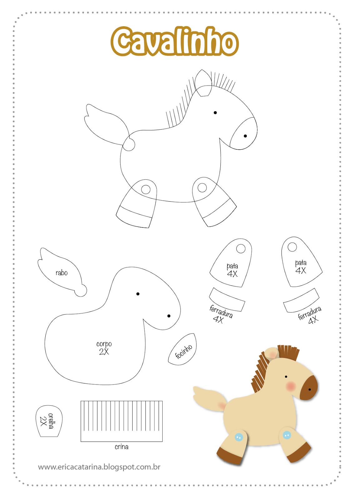 caballito | molde | Pinterest | Fieltro, Patrones y Moldes