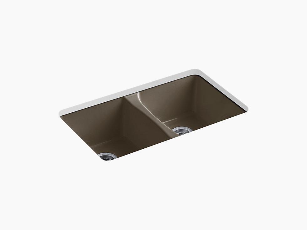 Kohler K 5873 5u Deerfield 33 Cast Iron Kitchen Sink Undermount