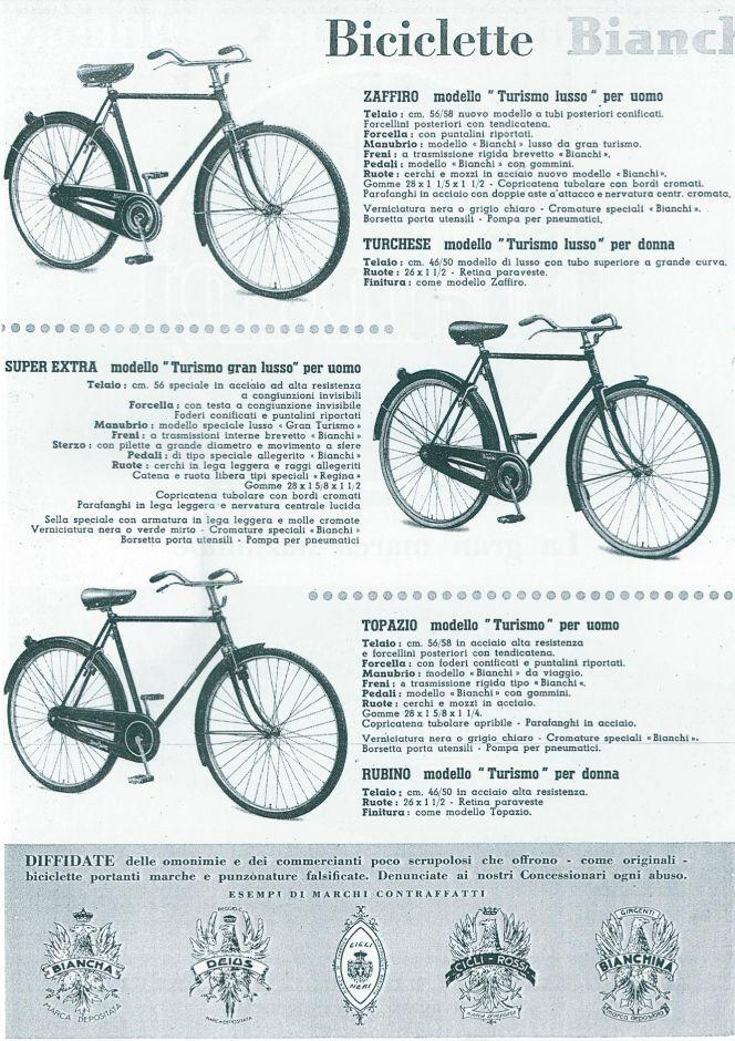 Catalogo Bianchi 1949