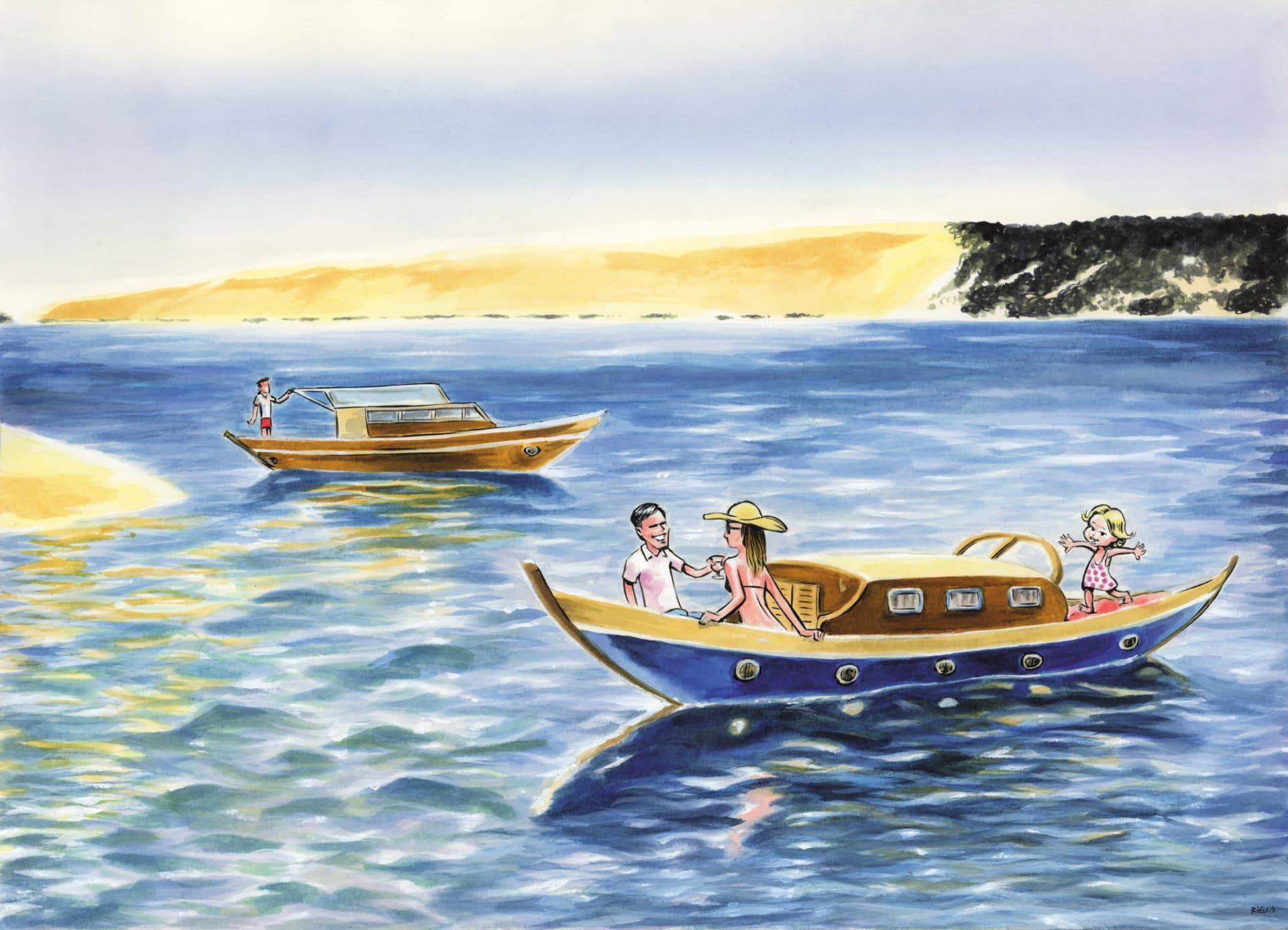 Caricatures Portraits Aquarelle Aquarelle Et Encre Bassin D