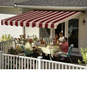 Sunsetter Vista Awning In Woven Acrylic Awning Shades