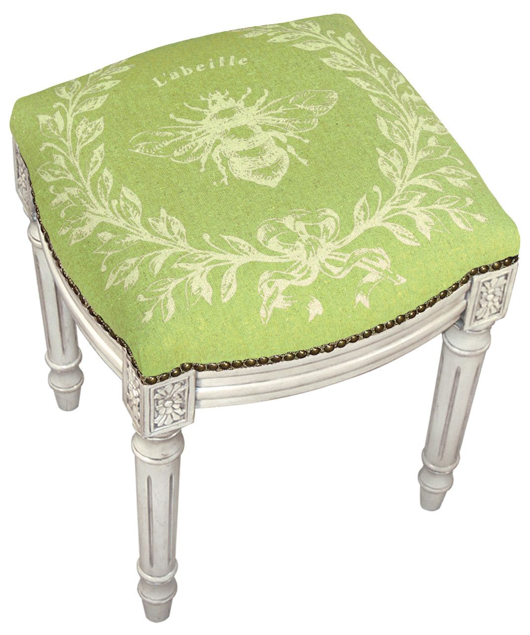 Amazing 123 Creations French Napoleon Bee Linen Upholstered Vanity Creativecarmelina Interior Chair Design Creativecarmelinacom