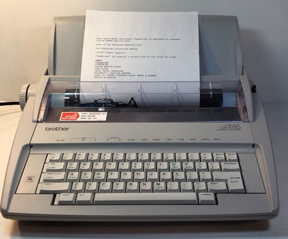 Brother GX-6750 Typewriter Daisy Wheel Correctronic Tested! Free Shipping!  #Brother