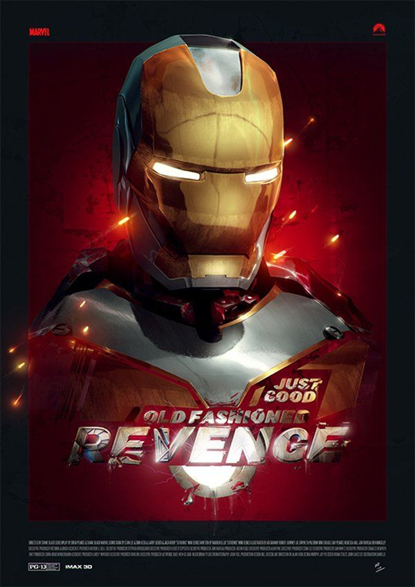 The Iron Revenge Typography Project | StockLogos.com -- This Iron Man homage comes complete with free downloadable font, wallpaper and poster #type #font #superhero