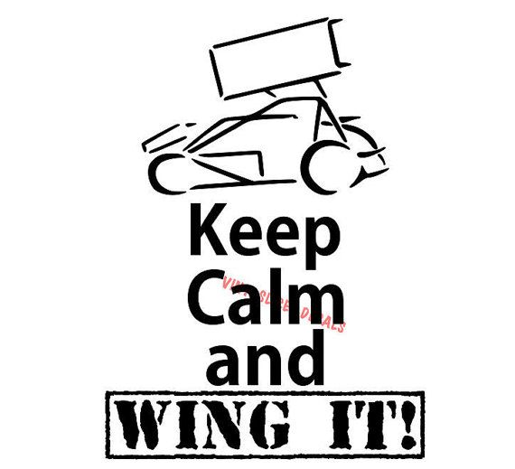 keep calm and wing it decal. sprint car racing fast chevy