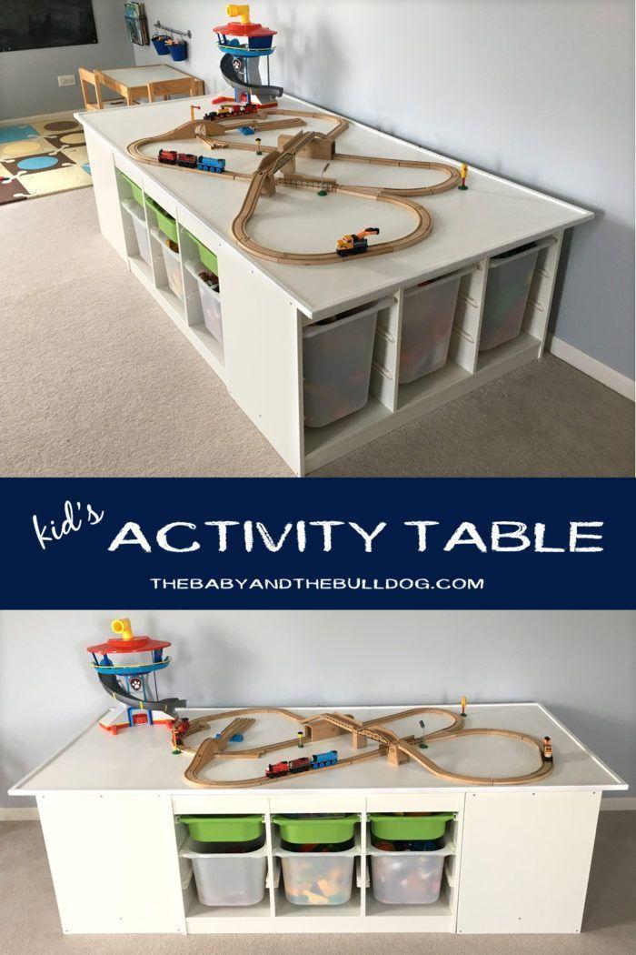 An Ikea Hack Train & Activity Table in 2020 | Train activity