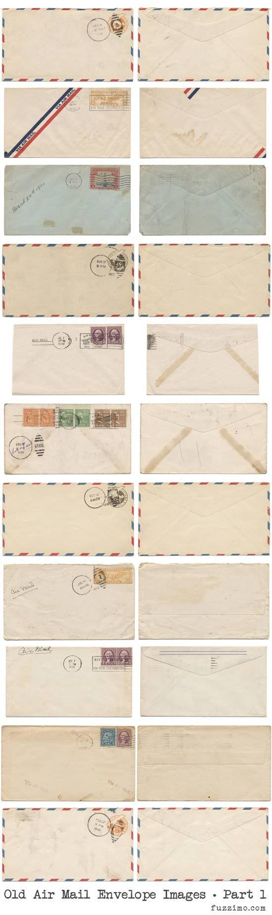 vintage envelopes to print