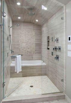 House Narrow Master Bathroom Designs Tub In Shower