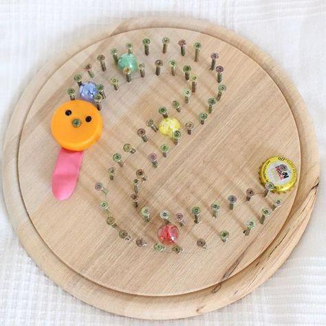 diy - werken mit kindern / murmelbahn mit bildern | werken mit kindern, basteln, basteln mit