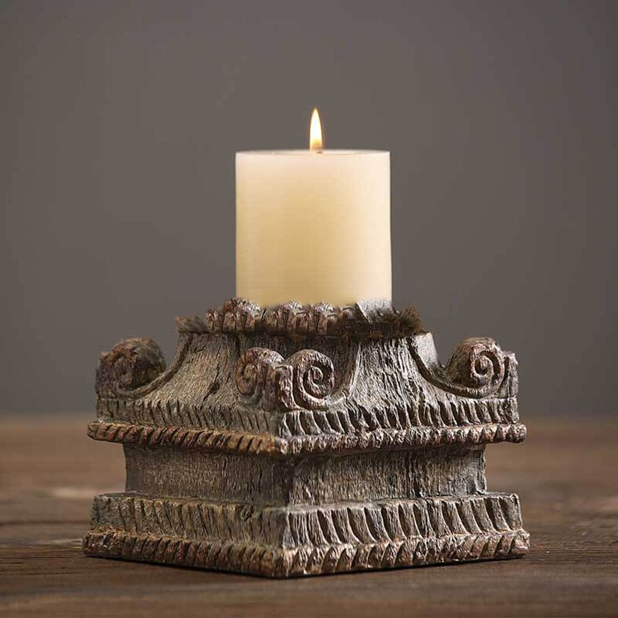 Glass candle holder for wedding home decoration oil lamps retro