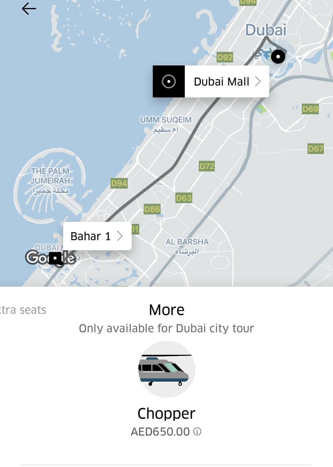 Uber Tried To Offer Me A Helicopter In Dubai Today