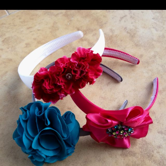 DIY HEADBANDS - go to Michael s or Joanne s or any crafty shop. Buy plain  headbands badfcc315ce