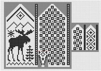 Norwegian pattern: Mittens