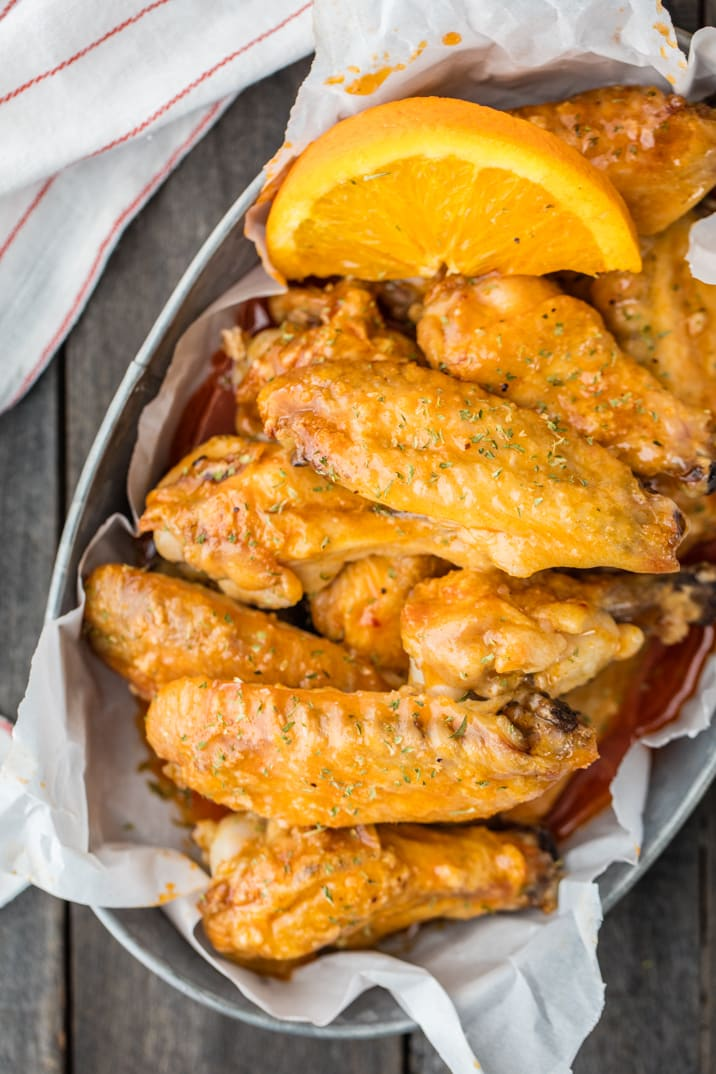 Baked Hot Wings Recipe with Orange Soda Hot Wing Sauce