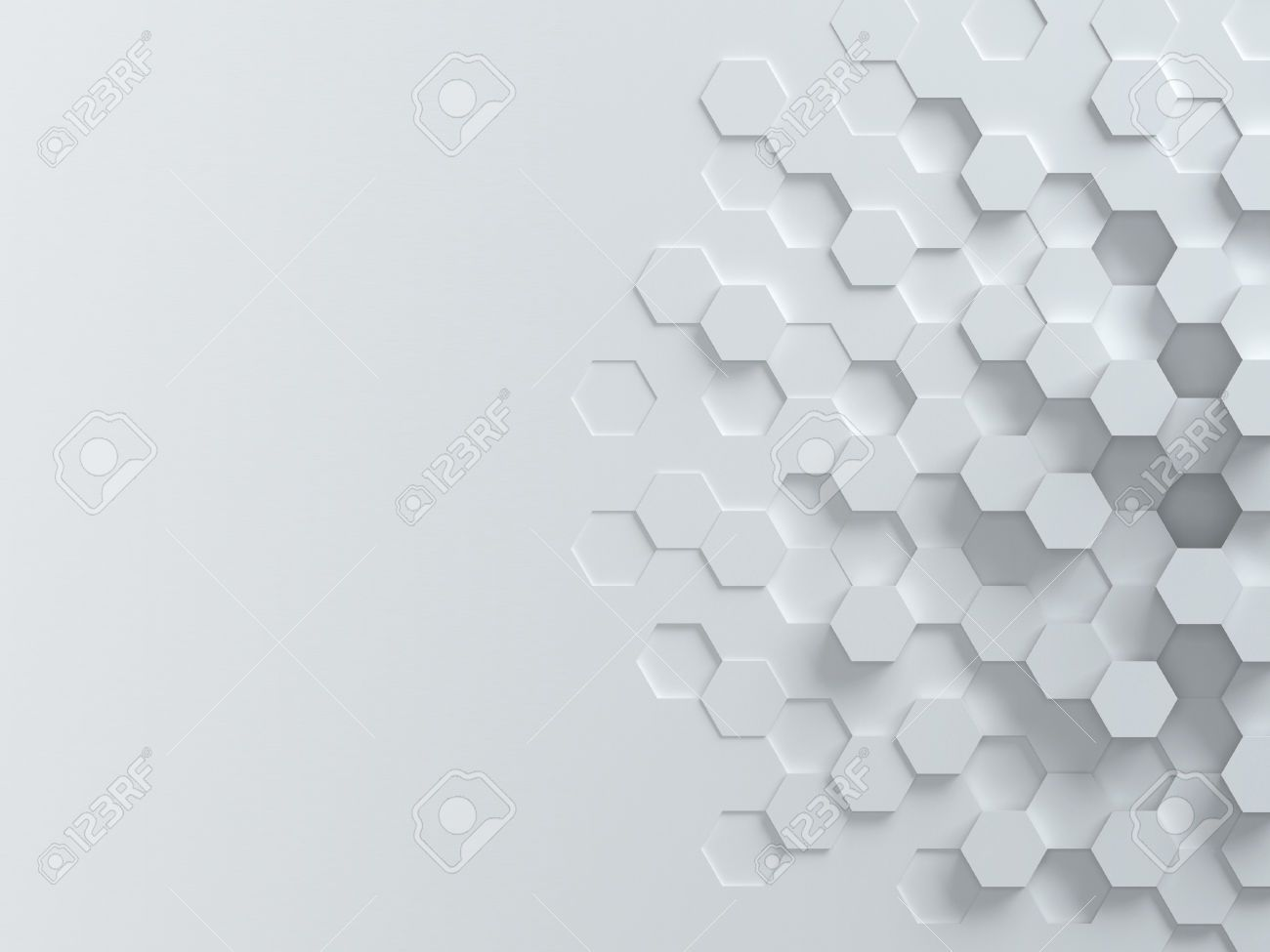 Black And White Vectors Hexagonal Abstract 3d Background