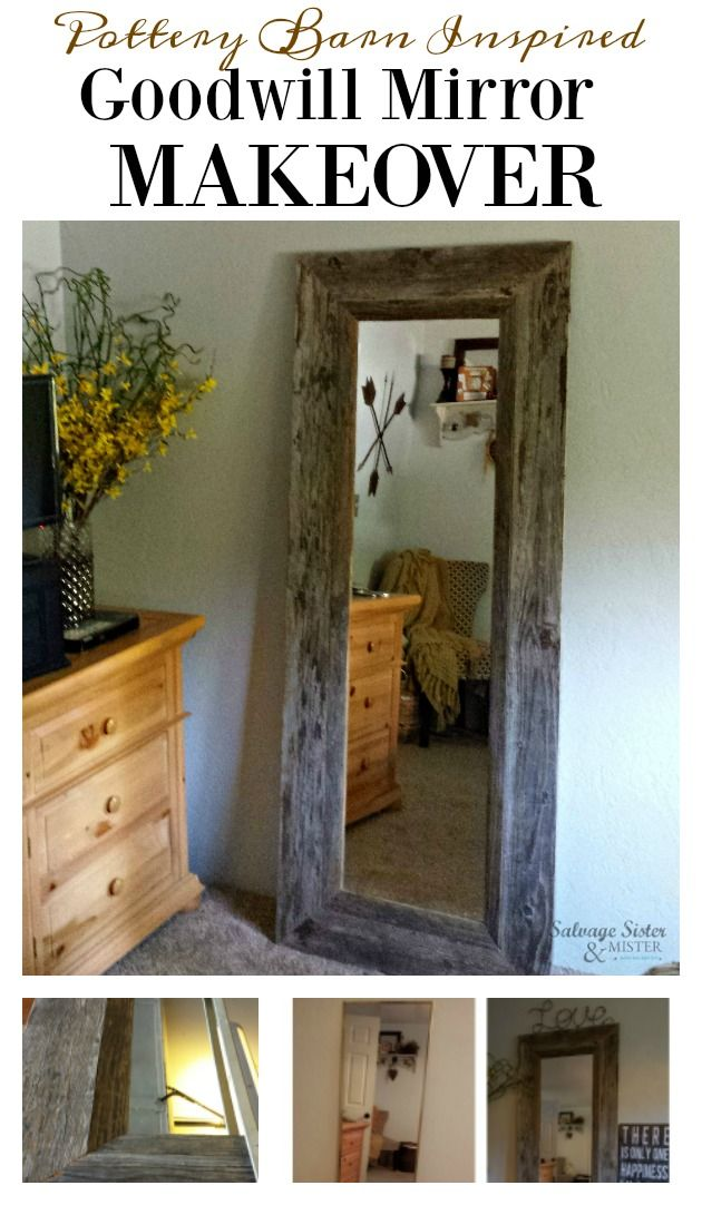 DIY Wood Framed Floor Mirror