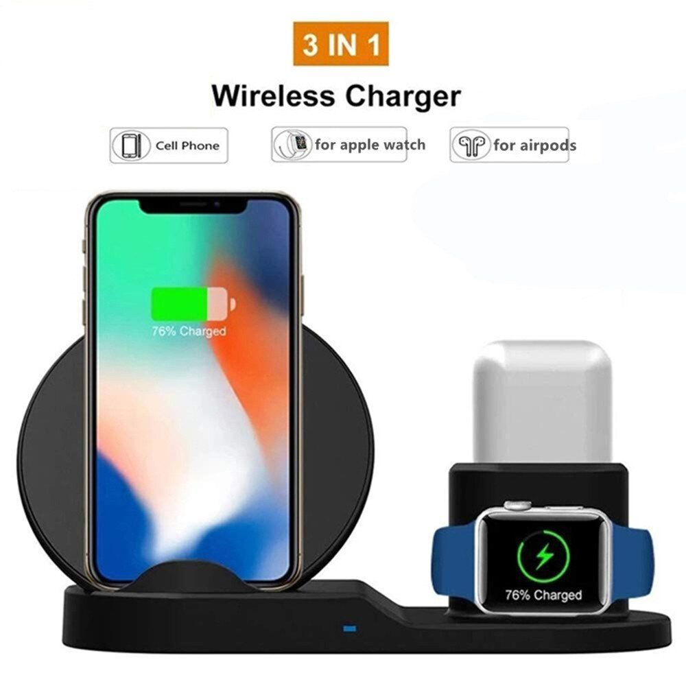3 In 1 Qi Wireless Charger For Iphone 11 Pro Phone Holder Wireless Charging Stand For Apple W Di 2020