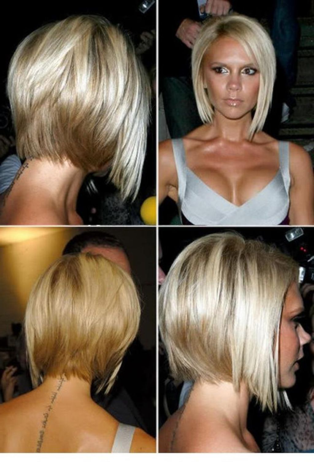 chin length hairstyles back view - google search
