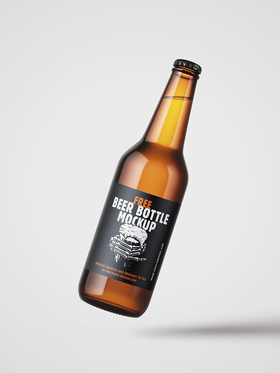 Free Beer Bottle Mockup Mockups Design Beer Bottle Design Beer Bottle Free Beer