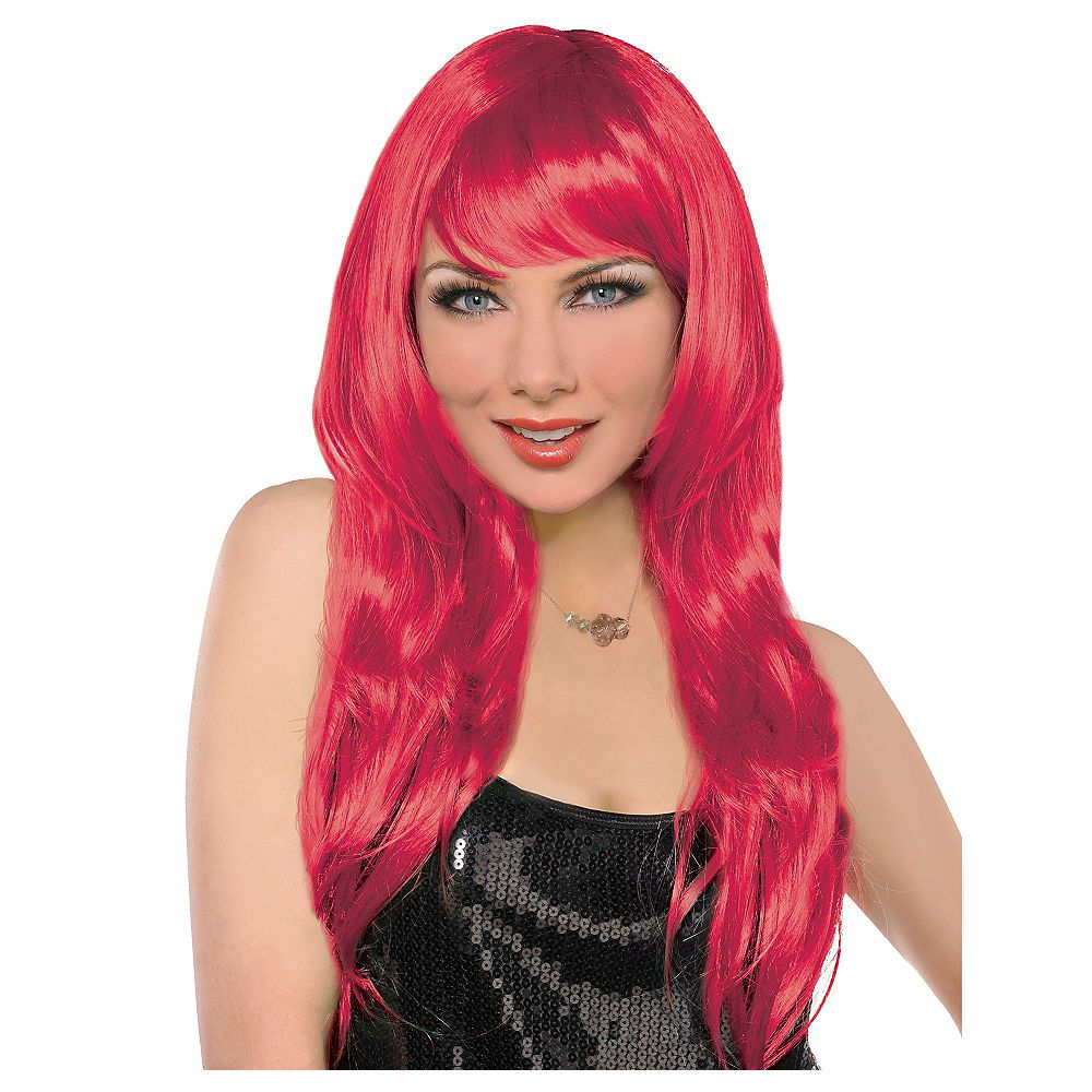 Glamorous Long Red Wig Red wigs, Wig party, Long wigs