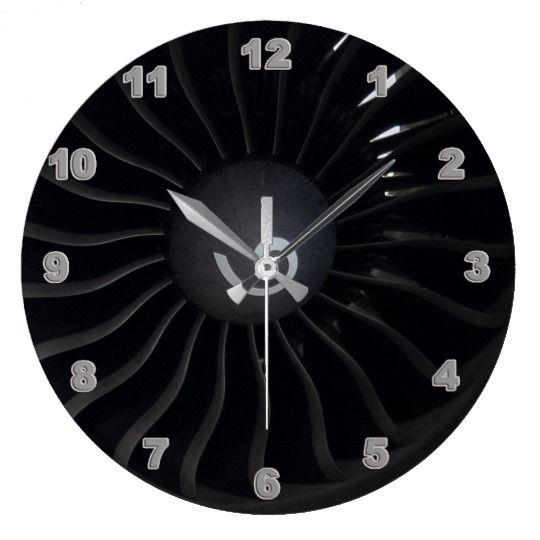 Jet Engine Wall Clock Zazzle Com In 2020 Clock Wall Clock Jet Engine