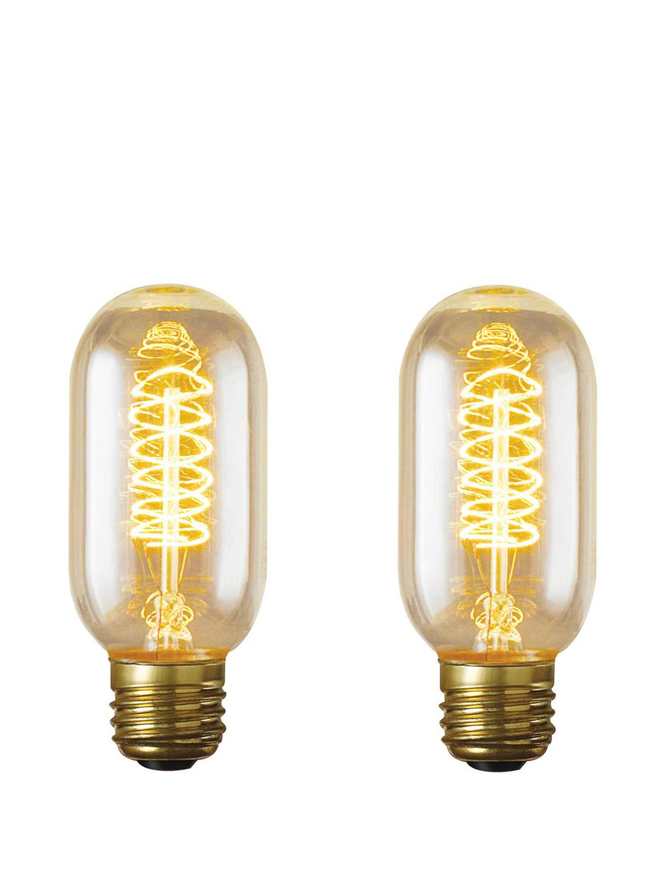 40 Watt Nostalgic Edison T14 Bulb Set Of 2 By Bulbrite At Gilt Vintage Lighting Bulb Lighting