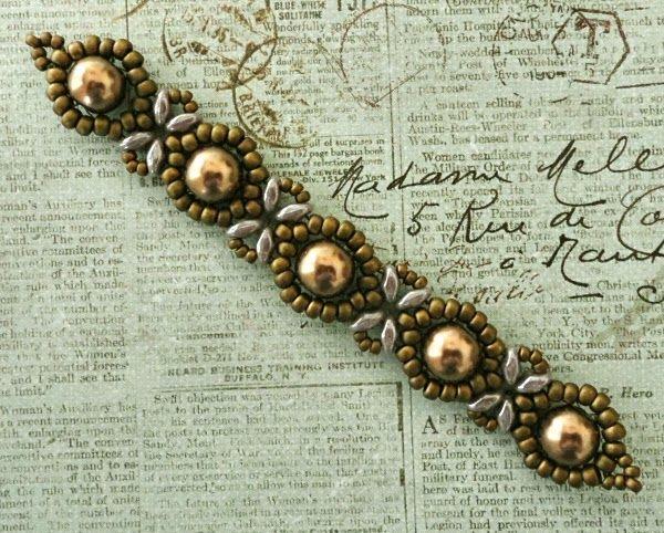 s version of beginner sunflower bracelet seed bead