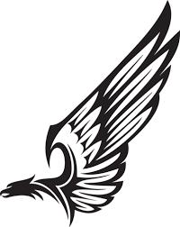 Image Result For Tribal Bird Flying Tatoo Tatuagem Asas Estampa Para Canecas