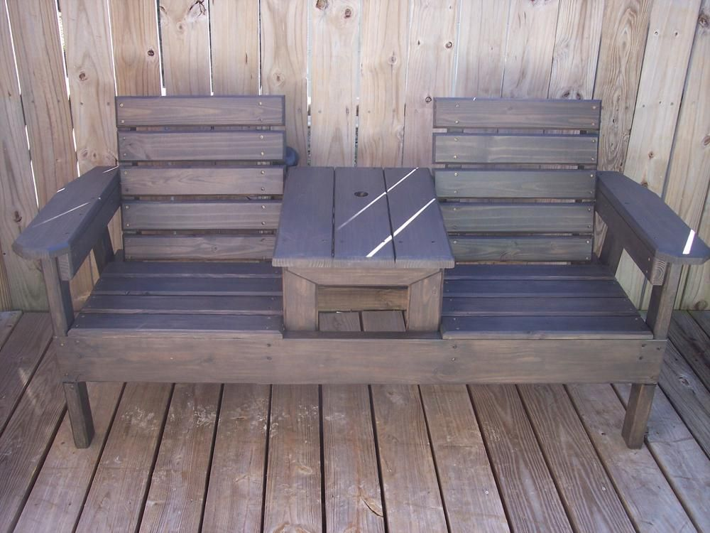 Two Seat Bench With Center Table   Georgia Outdoor News Forum