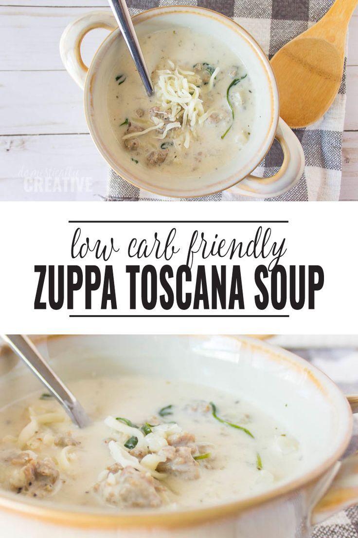 Low Carb Zuppa Toscana Soup #zuppatoscanasoup
