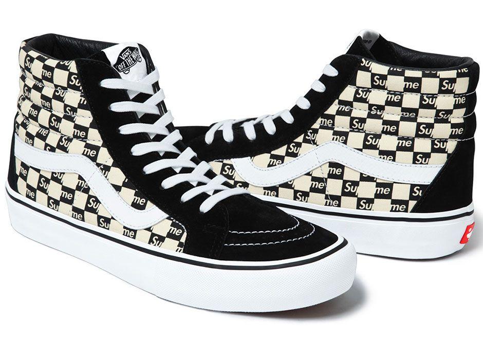 Supreme Vans Sk8-Hi Authentic Checker